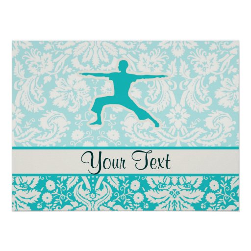 Teal Yoga Posters