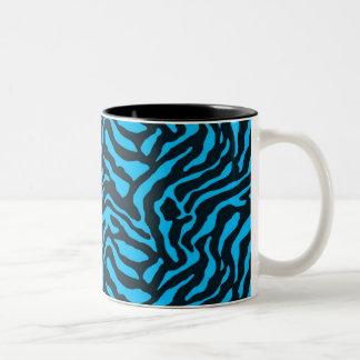 Teal Zebra Two-Tone Coffee Mug