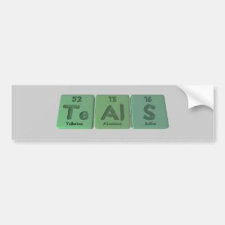Teals-Te-Al-S-Tellurium-Aluminium-Sulfur.png Bumper Sticker