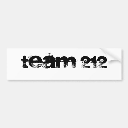 team 212 bumper sticker