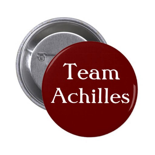 Team Achilles Badge Pinback Buttons