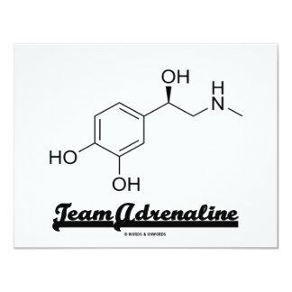 Team Adrenaline (Chemical Molecule Humor) 11 Cm X 14 Cm Invitation Card