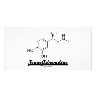 Team Adrenaline Chemical Molecule Humor Photo Greeting Card