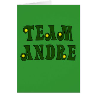 TEAM ANDRE with Tennis Details Tshirts Greeting Card