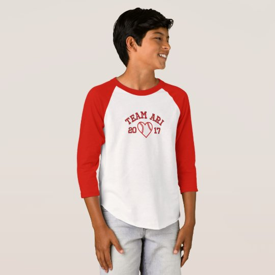 Team Ari boys baseball shirt