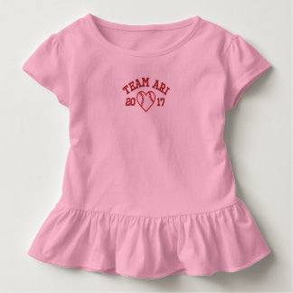 Team Ari toddler baseball heart ruffle shir Toddler T-Shirt