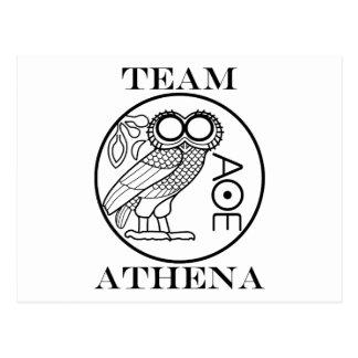 Team Athena (Engravers Font) Postcard