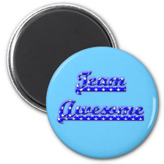 Team Awesome 6 Cm Round Magnet