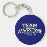 Team Awesome Basic Round Button Key Ring