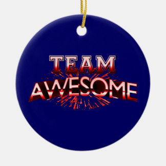 Team Awesome Christmas Ornament