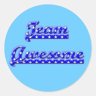 Team Awesome Round Sticker