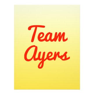 Team Ayers Custom Flyer
