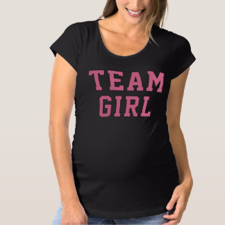 Team Baby Girl | Women's Pink Gray Maternity Shirt