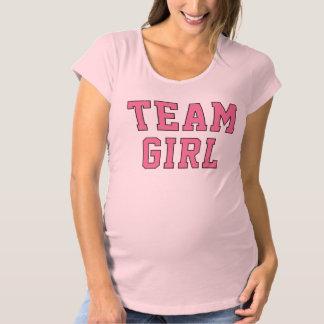 Team Baby Girl | Women's Pink Maternity Shirt