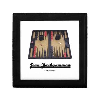 Team Backgammon (Backgammon Board) Small Square Gift Box