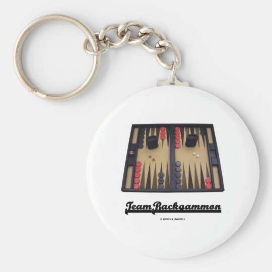 Team Backgammon Basic Round Button Key Ring