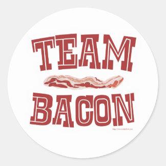Team Bacon Round Sticker