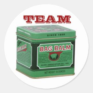 Team Bag Balm Round Sticker