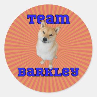 Team Barkley - Round Stickers