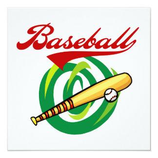 Team Baseball T-shirts and Gifts Invitations