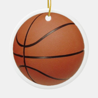 team Basketball Player court game Round Ceramic Ornament