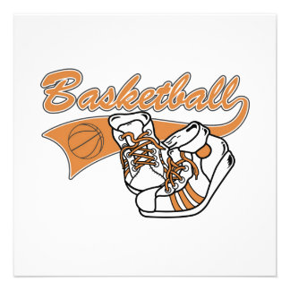 Team Basketball With Shoes Tshirts and Gifts Personalized Invite