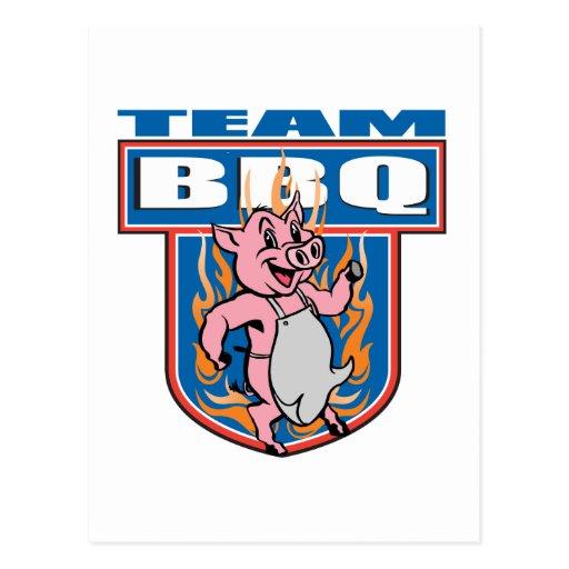 Team BBQ Pork Post Card