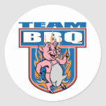 Team BBQ Pork Round Sticker