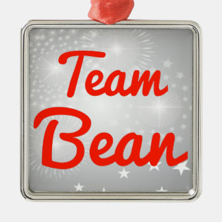 Team Bean Silver-Colored Square Decoration