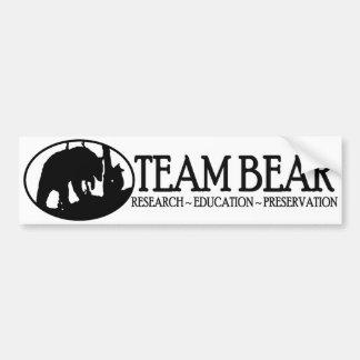 Team Bear Bumper Sticker Black
