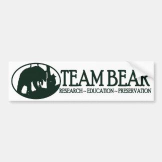 Team Bear Bumper Sticker Green