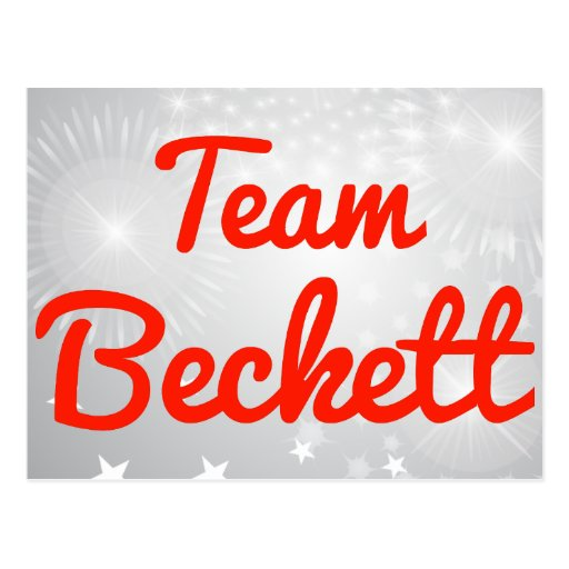 Team Beckett Post Cards