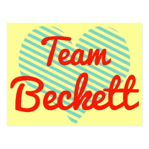 Team Beckett Postcard
