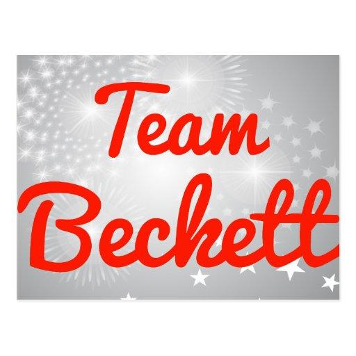 Team Beckett Postcards