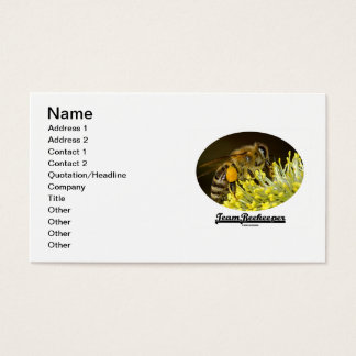Team Beekeeper (Bee On Yellow Flower) Business Card