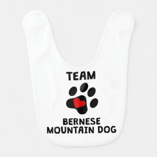 Team Bernese Mountain Dog Bib