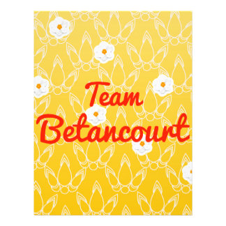 Team Betancourt Custom Flyer