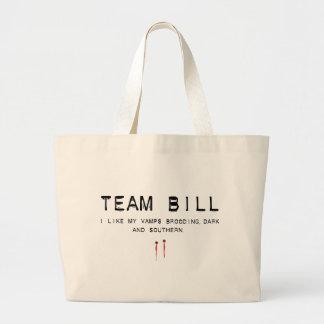 team bill large tote bag