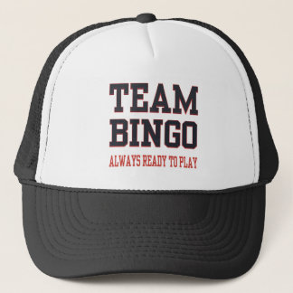 Team Bingo - Always Ready To Play Trucker Hat