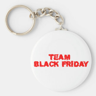 TEAM Black Friday Basic Round Button Key Ring