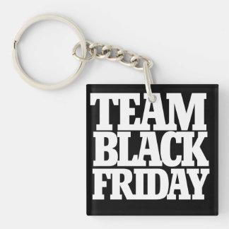 Team black friday Single-Sided square acrylic key ring