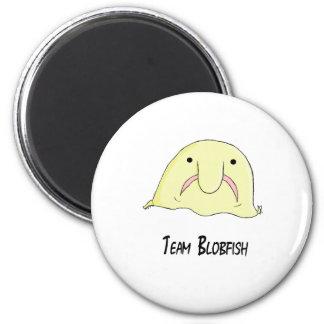team blob 6 cm round magnet