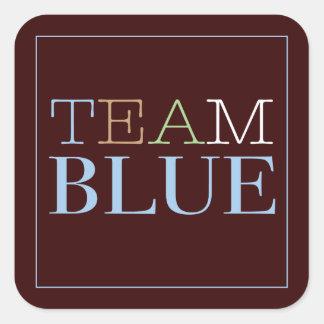 Team Blue for Boy Sticker for Gender Reveal Party
