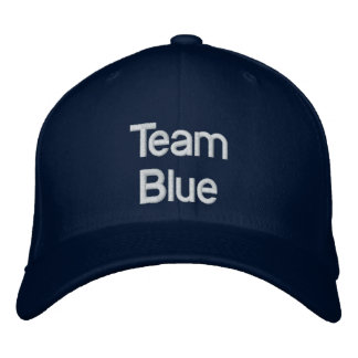 Team Blue Hat Embroidered Hats