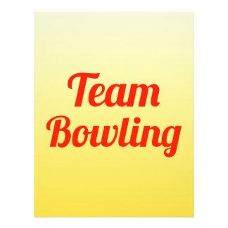 Team Bowling Custom Flyer