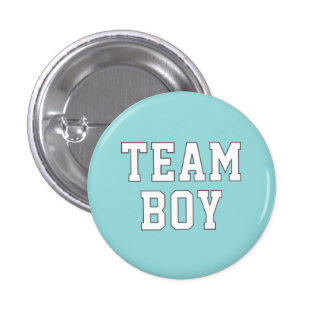 Team Boy | Baby Gender Reveal Party Buttons