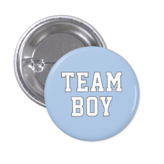 Team Boy Baby Gender Reveal Party Buttons