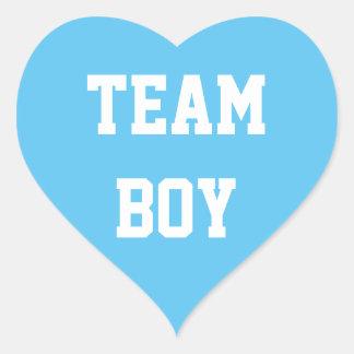 TEAM BOY Baby reveal Sticker, Baby Shower Heart Sticker
