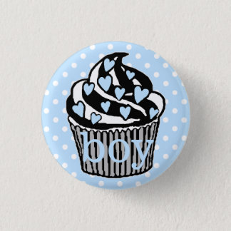 Team Boy-Baby Shower 3 Cm Round Badge