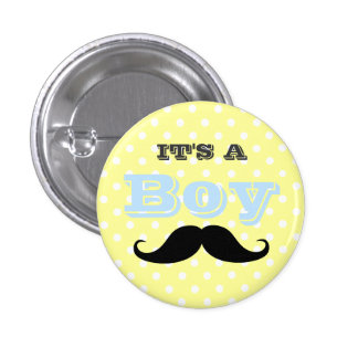 Team Boy-Baby Shower Button